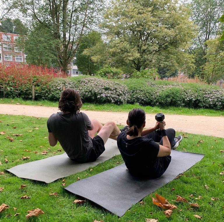 Duo training park Amsterdam