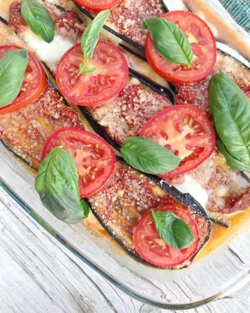 Melanzane met aubergine en courgette