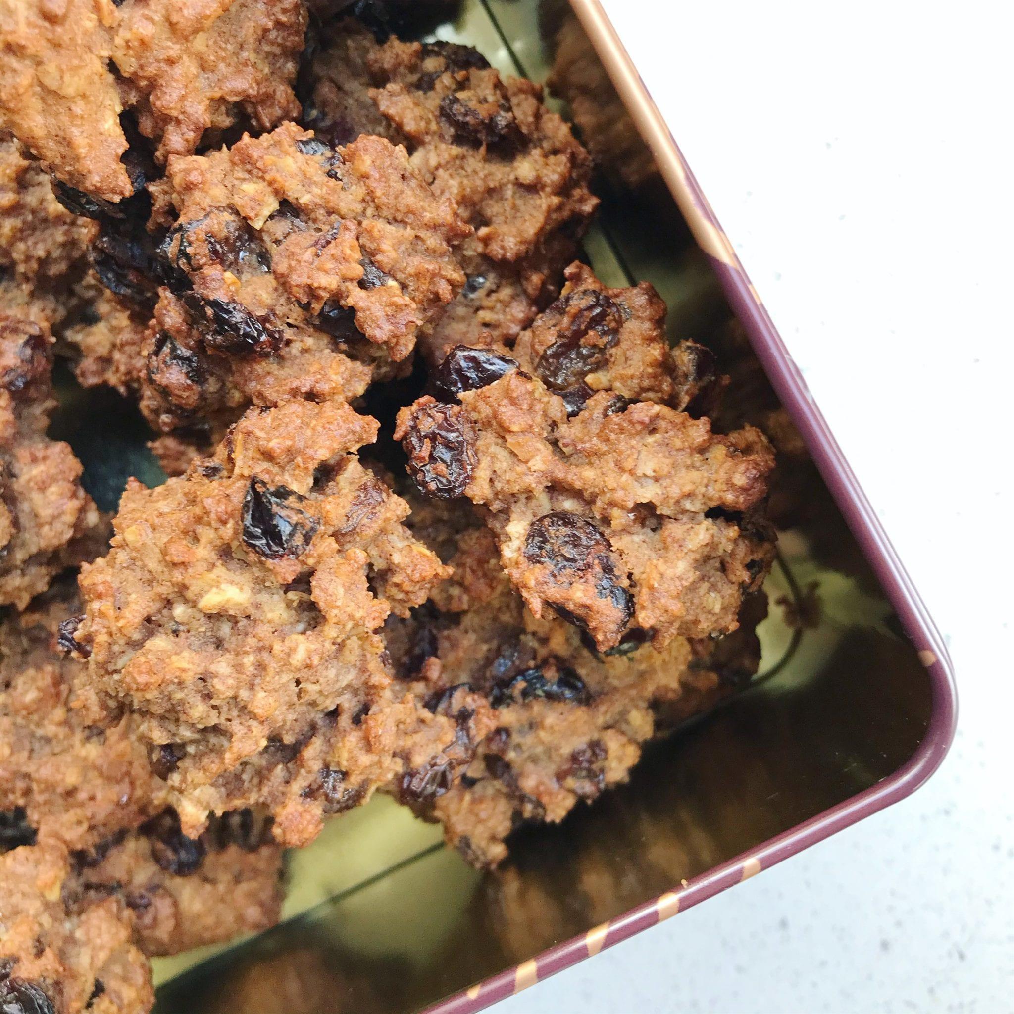 Vegan overnight oats cookies1