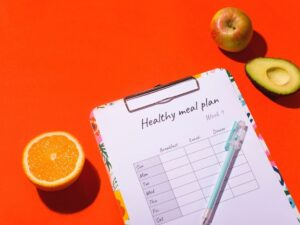 Voedingsschema vrouw afvallen