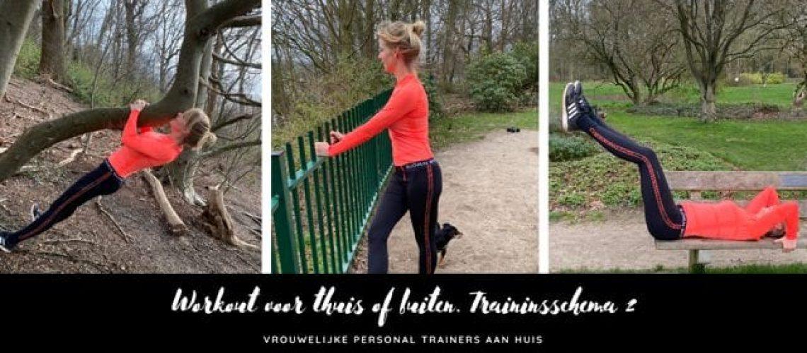 Workout voor thuis of buiten, trainingsschema 2