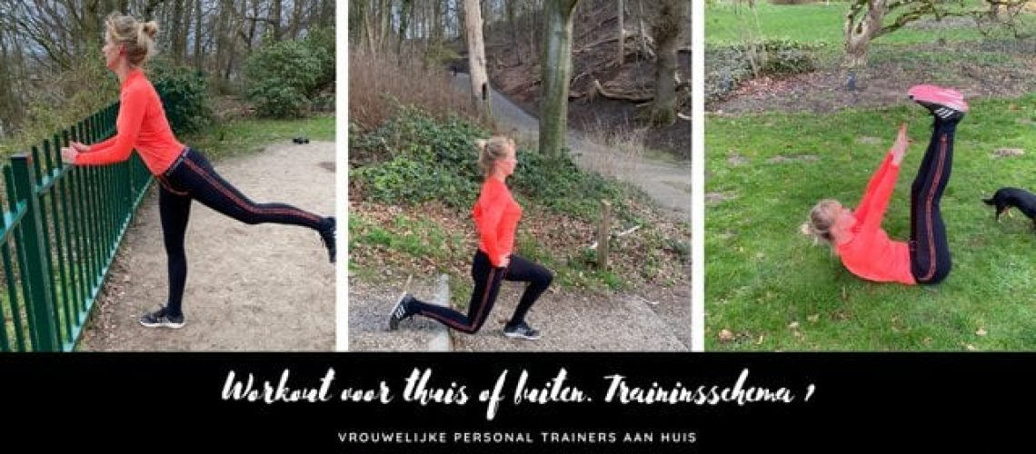 Workout voor thuis of buiten. Trainingsschema 1