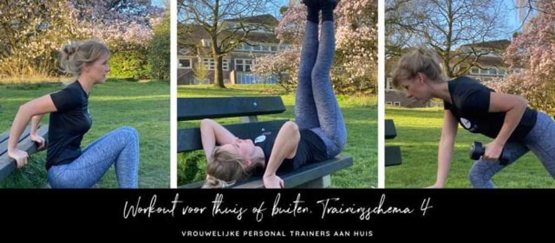 Workout voor thuis of buiten. Trainingsschema 4
